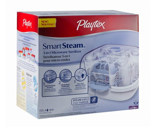 Cheapest Prices! Playtex SmartSteam 3-in-1 Microwave Baby Bottle Sterilizer