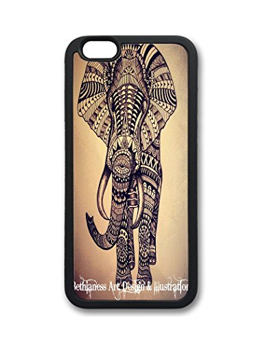 Fantastic Faye Pc Material Abstract Oil Paintig Elephant Cute Colorful Cartoon Lovely Cell Phone Cases Special For Iphone 6 No.4