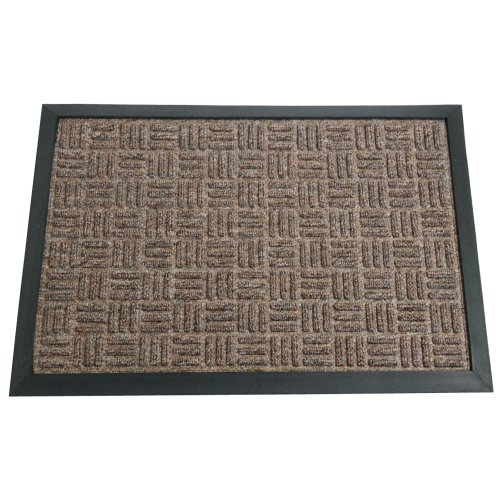 Rubber-Cal 03-196-ZWBR34;Wellington34; Rubber Backed Carpet Rug Mat, 3' x 5', Brown (Rug 3 Feet By 5 Feet compare prices)