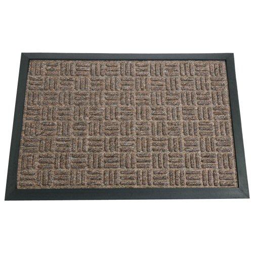 Rubber-Cal Wellington Carpet Door Mat - 16 x 24 inches - Brown Rug Mat