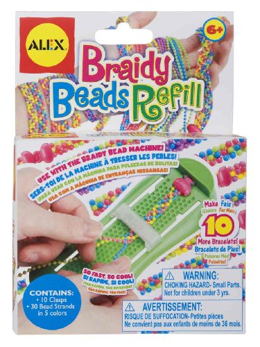 ALEX Toys Crafts Braidy Beads Refill 761R
