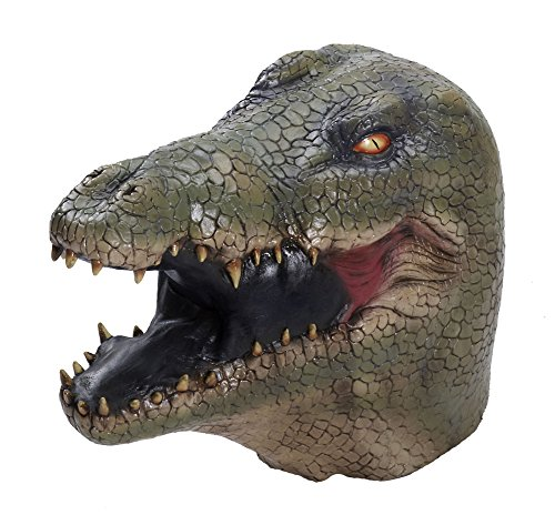 Adult Alligator Crocodile Reptile Latex Costume Mask