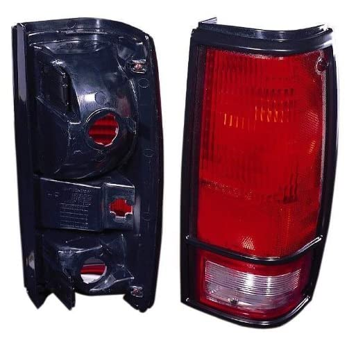CHEVY S10/GMC S15/SONOMA 82 93 TAIL LIGHT UNIT PAIR SET NEW W/BLACK BEZEL