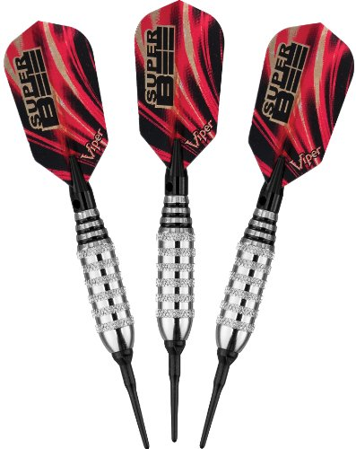 Viper Super Bee Soft Tip Darts, Nickel Silver Plated, 16 Grams