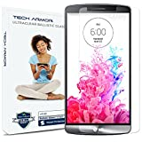 Tech Armor LG G3 Premium Ballistic Glass Screen Protector - Protect Your Screen from Scratches and Drops - Maximize Your Resale Value - 99.99% Clarity and Touchscreen Accuracy