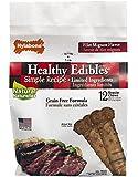 Nylabone Healthy Edibles Regular Filet mignon flavored Dog Treats, 12 Count