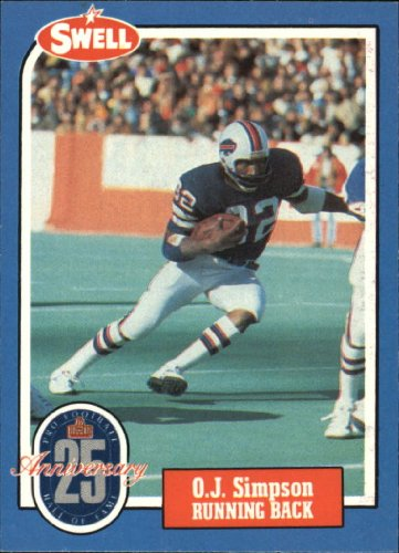 1988 Swell Greats Football Card #4 O.J. Simpson Mint (Oj Simpson Football Card compare prices)