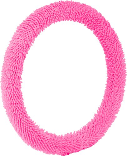 Bell Automotive 22-1-53210-1A Pink Shaggy Steering Wheel Cover