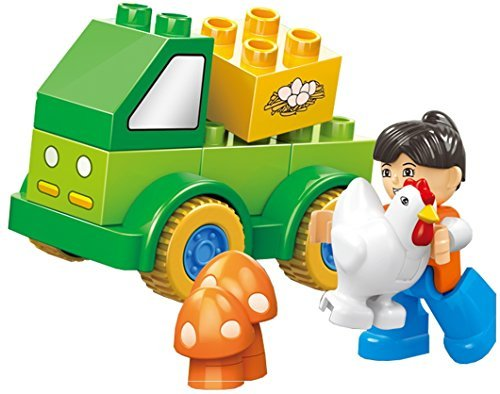 fun-happy-fleet-11-pcs-small-building-blocks-farm-4x4-truck-set-with-animals-mushroom-plants-and-fri