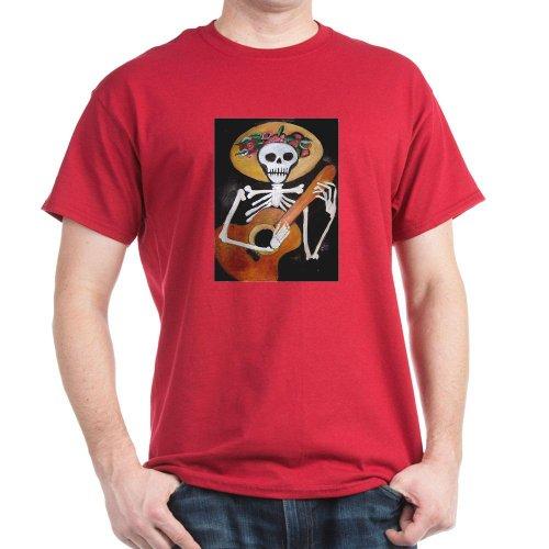 Cafepress El Dia De Los Muertos Dark T-Shirt - L Cardinal