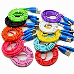 1M Pink Tangle Free Noodle Flat Smiley Happy Face LED Micro USB Charging Charger Sync Data Cable For Blackberry Q10 / Q5 / Z10 / Z30 / Z3 / Storm 9500 9530 / Storm2 9520 9550