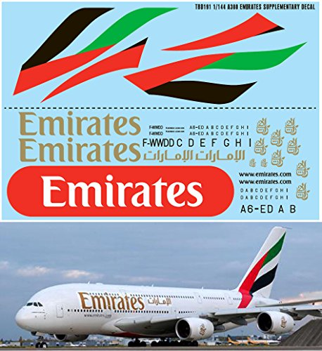 1144-AIRBUS-A380-EMIRATES-AIRLINES-LIVERY-REVELL-DECALS-TB-DECAL-TBD191