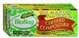 BioBag 13 Gallon Tall Kitchen Waste Bag, 12 CT (Full Case of 12 Boxes, 144 Bags Total)