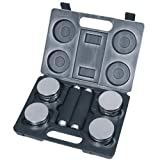 Royalbeach Chrome Dumbbell Set with Case