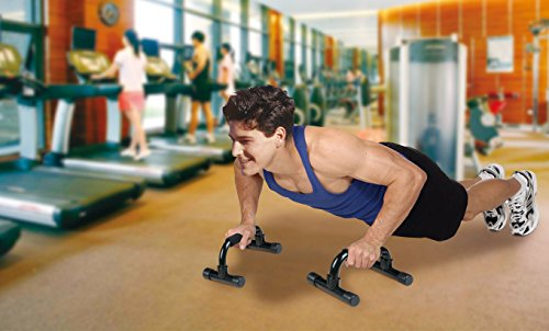 Push-Up Bars Push up Stand Bar for Workout Exercise Comfortable grips on the handles on Sale