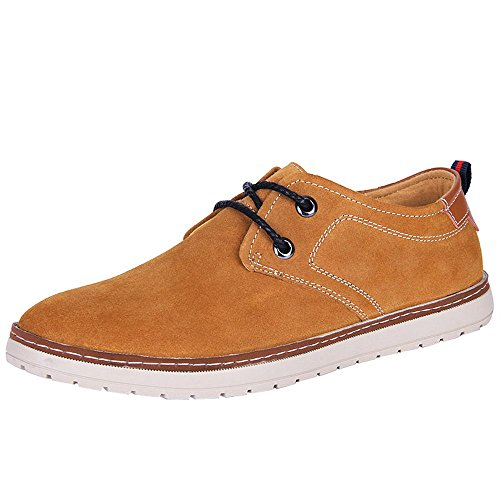 imayson-mens-casual-suede-leather-daily-time-sneaker-lace-up-shoes-uk-75-color-brown