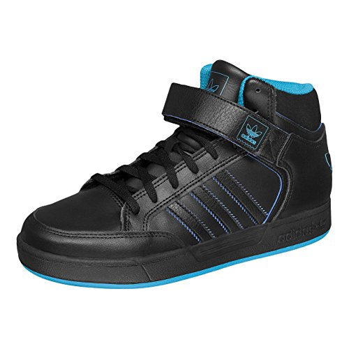 adidas Varial MID J, Scarpe da Skateboard bambini Multicolore Negro / Azul (Negbas / Agufue / Negbas) 35 1/3