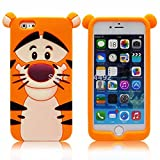 Go Crazzy Cute Tiger Back Case For Iphone 6 Plus (Multi)