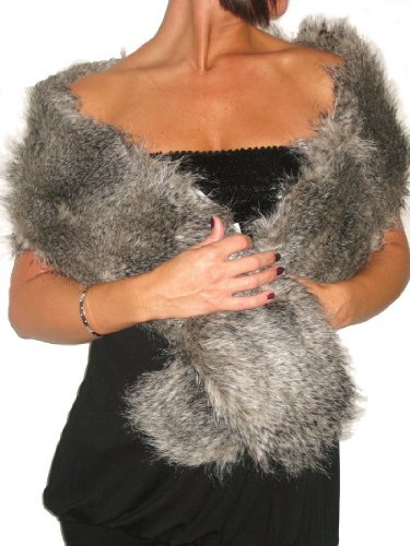ICE (6228) Faux Fur Womans Stole Shawl Collar Wrap Fox