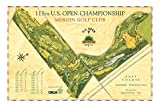 Signed 2013 U.S. Open Course Map of Merion GC by Lee Wybranski