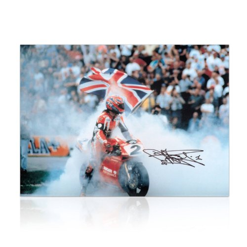 Carl Fogarty Signed Superbikes Photo front-672685