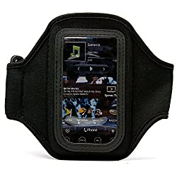 VangoddyTM Durable Neoprene Exercise Sports Workout Armband with Adjustable Velcro Strap for T-Mobile HTC HD 7 Windows Mobile Smart Phone