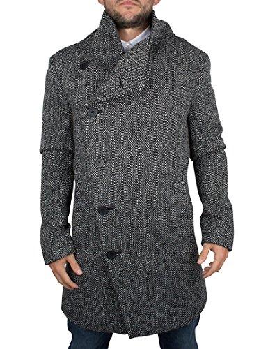 Religion Uomo Noirex cappotto lungo, Nero, Medium