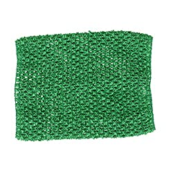 Imported 9inch Crochet Tube Top Elastic Waistband Headband For Girls Tutu Skirt Green