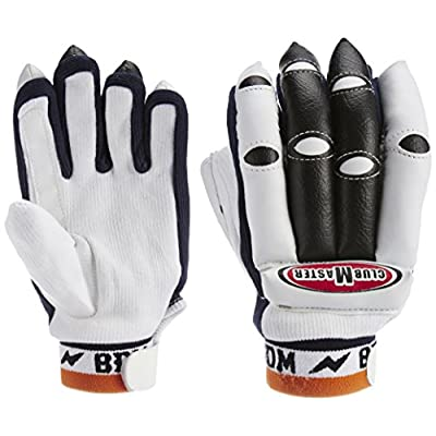BDM Club Master Batting Gloves, Youth (White/Black)