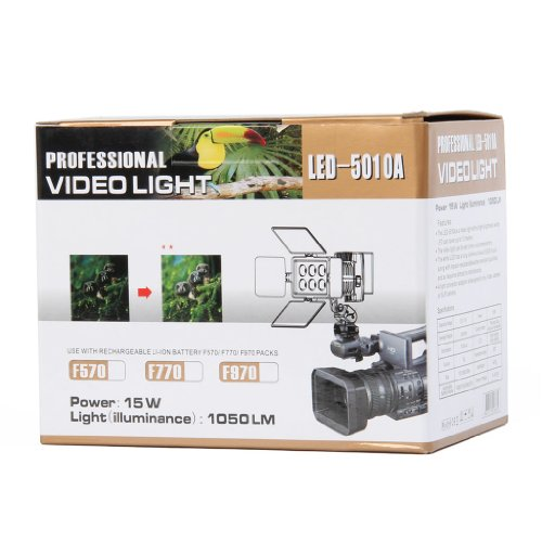 Rechargeable 1050LM 6-LED White Light Video Lamp with Filers for Camera/Camcorder