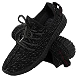 LADIES RUNNING TRAINERS WOMENS FITNESS GYM SPORTS YEEZY BOOST SHOCK SHOES 36-41[Black ,38]
