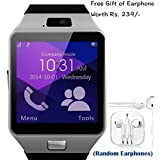 Byond B66 Compatible and Certified set of Earphones with Mic + DZ09 Bluetooth Smart Watch with SIM Card Slot and Memory Slot upto 16GB supported Watch Phone Remote Camera ( Get Mobile Charging Cable worth Rs 239 FREE & 180 days Replacement Warranty )