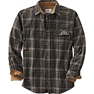 Legendary Whitetails Buck Camp Flannels Forest Green Plaid Large