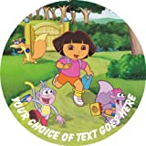 "Dora The Explorer (B) [P1277] 7.5"" Circular Edible Cake Topper made with real icing and printed with your custom greeting [Please use the SEND AS A GIFT facility on the checkout page to tell us the text of your greeting.] and with FREE UK shipping"