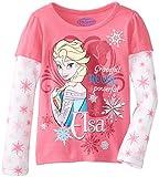 Disney Little Girls' Elsa Powerful Long Sleeve Tee