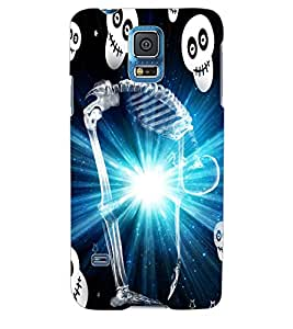 ColourCraft Skeleton Back Case Cover for SAMSUNG GALAXY S5 NEO