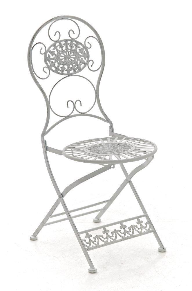 CLP nostalgischer Klappstuhl MANI aus Eisen (aus bis zu 6 Farben wählen) antik weiß jetzt kaufen