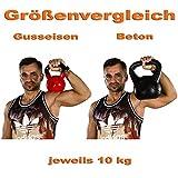 MOVIT® Profi Kettlebell Kugelhantel aus Gusseisen mit Vinylbeschichtung, 12 VARIANTEN: 2 bis 24 kg -