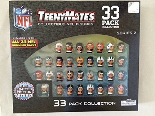 Party Animal Teenymates Collectible Series 2 NFL Figures (33 Pack) (Tiny Mates Football compare prices)
