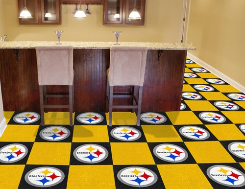 "Team Fan Gear Fanmats Pittsburgh Steelers Carpet Tiles 18""x18"" tiles NFL-8545 at Amazon.com"