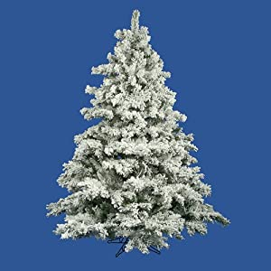 #!Cheap 6.5' Flocked Alaskan Artificial Christmas Tree - Unlit