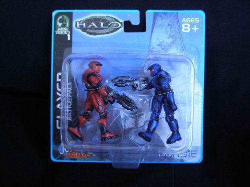 Halo Mini Series 1 Slayer Battlepack 2 pack 2003 Collectible - 1
