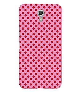 Printvisa Pink And Red Polka Dot Patterns Back Case Cover for Lenovo ZUK Z1