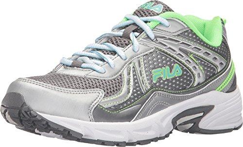 Fila Women's Validation Dark Silver/Green Gecko/Bluefish Sneaker 9 B (M)