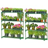 2x Gardman Greenhouse/Shed Storage Shelving DOUBLE PACK