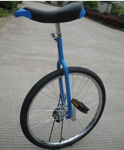 18 inch Unicycle with support stand Aluminum rim suitable hieight 1.4-1.7m(blue)