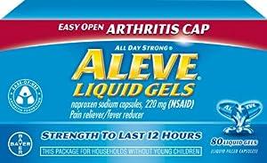 Aleve Liquid Gels with Easy Open Arthritis Cap, 80 Count