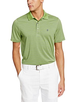 IZOD Men's Short Sleeve Poly Feeder Jersey Golf Polo