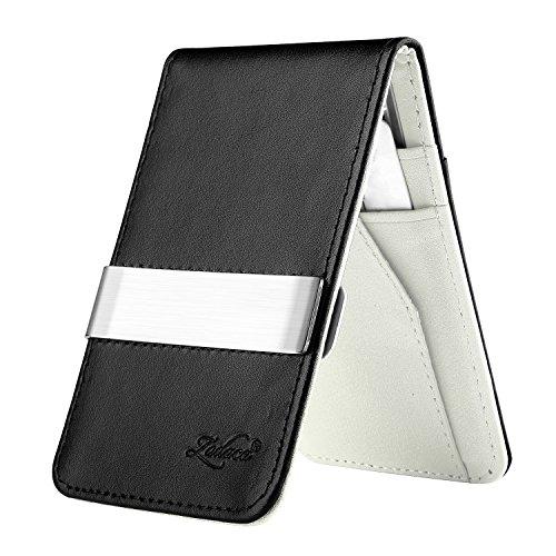 zodaca-horizontal-genuine-leather-money-clip-wallet-black-white