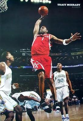 J-1630 Tracy McGrady Houston Rockets Basket Ball Player Wall Decoration Poster Size 23.5